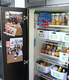 Organized pantry via my pal Cassandra Dowman Guild {Hi Sugarplum} - tons of ide. Kitchen Organization Pantry, Kitchen Pantry, Organization Hacks, Kitchen Storage, Organized Pantry, Organization Ideas, Pantry Ideas, Pantry Storage, Door Storage