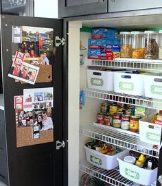 Organized pantry via my pal  @Cassie {Hi Sugarplum} - tons of ideas, love the labels!