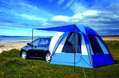 Truck tents, Camping tents, vehicle camping tents.  This looks like a nice exit/changing room for the camper.