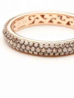 Michael Weggenmann Cognac Diamond Band Ring