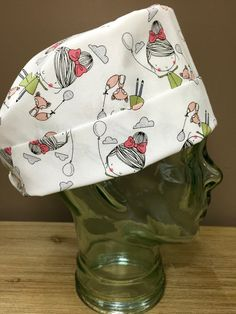 Little Girl & Her Fox Surgical Scrub Cap, Adorable Women's Pixie Scrub Hat, Custom Caps Company by CustomCapsCompany on Etsy