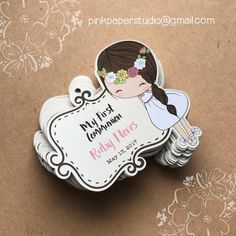 First Communion Favor Tags Baptism Favor Tags Cupcake First Communion Favors, Communion Invitations, Baptism Favors, First Holy Communion, Catholic Communion, Catholic Sacraments, Love Craft, Favor Tags, Wedding Favors