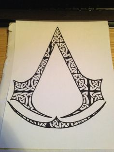 Tried to draw up a tattoo design for a friend. The stipulations were: Celtic design and Assassins Creed.