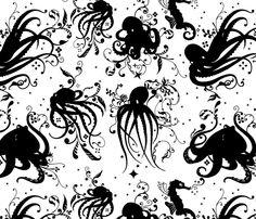 Octopuses by Jade Gordon at Spoonflower