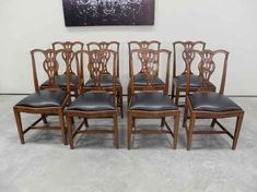 Chippendale Quarter Sawn Oak Set Of 8 Dining Chairs Antique Dining Chairs, Wishbone Chair, Tables, Antiques, Furniture, Design, Home Decor, Mesas, Antiquities