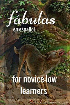 A collection of of fables, or fábulas, for Novice-Low Spanish learners. Great cuentos for learning Spanish! Spanish Teaching Resources, Spanish Activities, Spanish Language Learning, Listening Activities, Teaching Tools, Teaching Ideas, Elementary Spanish, Ap Spanish, How To Speak Spanish