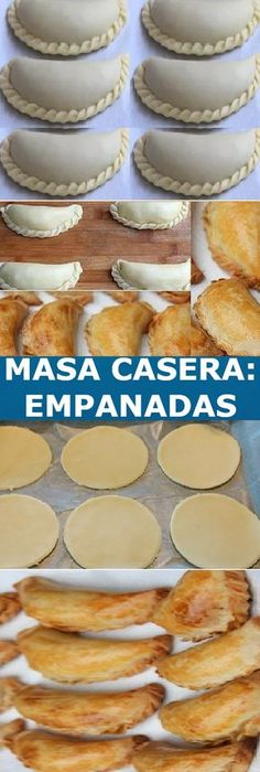 MASS: for Baked Empanadas easy recipe to prepare, If you like tell us HELLO and give Like Like LOOK… Mexican Dinner Recipes, Barbecue Recipes, Mexican Dishes, Mexican Food Recipes, Baked Empanadas, Oven Baked Chicken Parmesan, Baking Basics, Yummy Food, Tasty