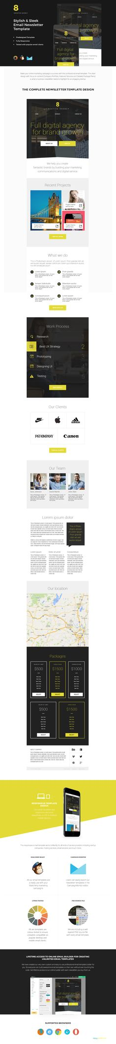 180 Absolute Best Responsive Email Templates - Aiden - Responsive - email newsletter template