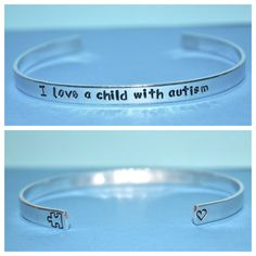 Autism Awareness Custom Quote Aluminum Cuff by TeamNeville on Etsy