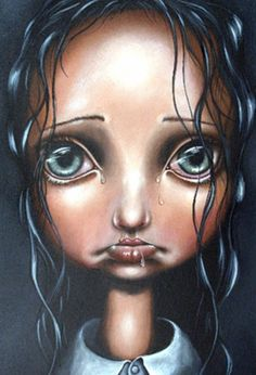 Big Eye art by Angelina Wrona Mermaid Pictures, Art Prints For Home, Goth Art, Pop Surrealism, Eye Art, Big Eyes, Art Girl, Art Dolls, Fantasy Art