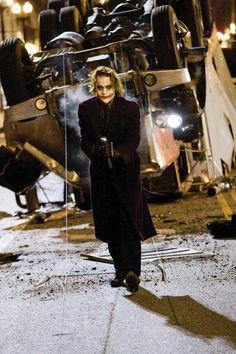 Heath Ledger as The Joker in 'The Dark Knight' (still from film) Joker Batman, Joker Heath, I Am Batman, Joker Art, Heath Legder, Joker Clown, Joker Pics, Batman Batmobile, Batman Art