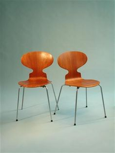 Ant chairs. Designed by Arne Jacobsen