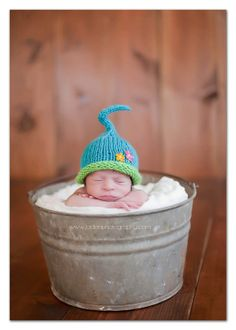 Spring Fling Pixie Hat  newborn baby photo prop by clickknits, $25.00