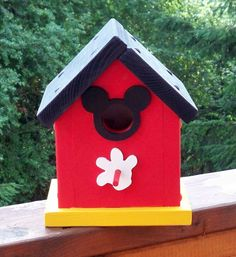 Mickey Mouse Birdhouse by Denisesdesigns2011 on Etsy