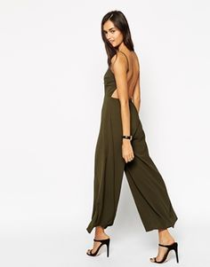 ASOS Jumpsuit With Open Back And Wide Leg
