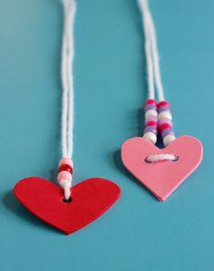 Valentine's Day Foam Heart Friendship Necklaces