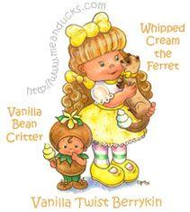 Vanilla Twist Berrykin, Vaniila Bean Critter,  and Whipped Cream the Ferret