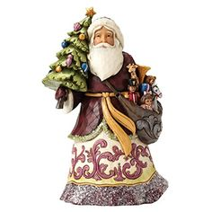 Jim Shore Heartwood Creek JS Hwc Fig Vict Santa Wforwardslashtree Figurine *** Read more reviews of the product by visiting the link on the image. (It is an affiliate link and I receive commission through sales)