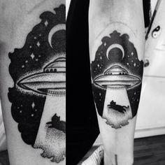 ufo cat tattoo