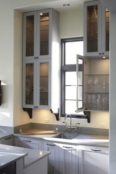 Mesh front cabinets