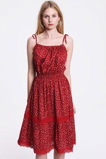 Vintage Renewal Floral Tie Shoulder Dress