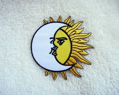 Moon over Sun Applique Iron on Patch by DIYMINT on Etsy
