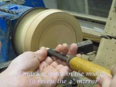 Creating an Ornate Looking Glass. -  hand crafted mirror.