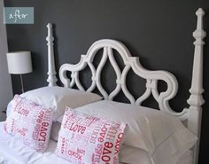 Love the white and dark grey.  I wish I could paint my apartment walls.