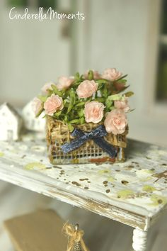 A personal favorite from my Etsy shop https://www.etsy.com/listing/537536988/basket-of-shabby-chic-roses