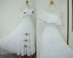 vintage traditional puerto rican wedding dresses | Wedding Flower LOVE Cocktail Party Maxi Dress Free by SeasonChange, $ ...