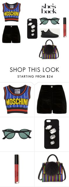 """""""Untitled #254"""" by dreamarie151 on Polyvore featuring Moschino, River Island, adidas, Ray-Ban, STELLA McCARTNEY, Les Petits Joueurs, women's clothing, women, female and woman"""
