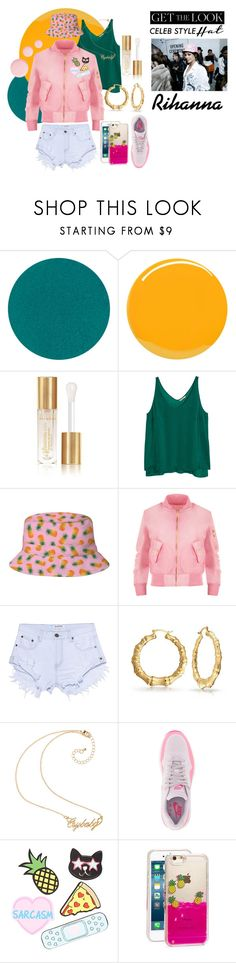 """Celeb Looks: Bucket Hats"" by so-mimi ❤ liked on Polyvore featuring Yves Saint Laurent, H&M, Opening Ceremony, WearAll, One Teaspoon, Bling Jewelry, NIKE, Forever 21, Skinnydip and Topshop"