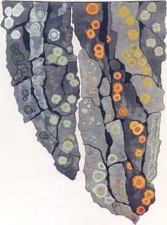 fiber art - lichen  fantastic!!