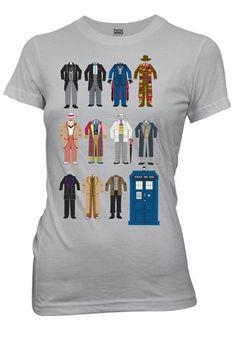 Doctor Who Doctor Outfits Juniors Grey T-Shirt | XL Toy Zany http://www.amazon.co.uk/dp/B00IZL854O/ref=cm_sw_r_pi_dp_Aj.pvb1D1AQKY