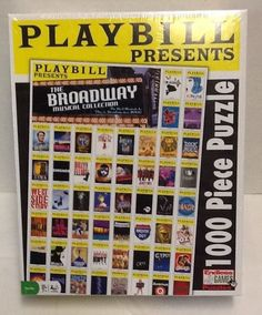 Playbill Broadway Puzzle Musical Collection Wicked Hairspray Cats 1000 Pieces #EndlessGames