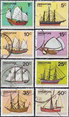 Singapore 1980 Ships SG 364-371 Scott 336-343