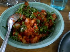 Aloo chaat..Spicy.boiled potatoes