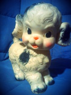 SUN RUBBER DOG Doll 1950s Ruth E. Newton Toy by inawinkvintage, $13.00