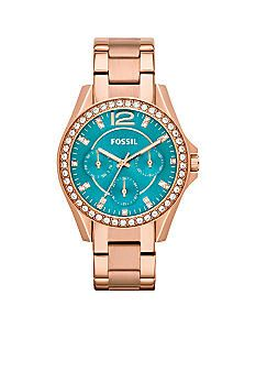 Fossil Women's Riley Rose Gold-Tone Stainless Steel Bracelet Watch - All Fossil Watches - Jewelry & Watches - Macy's Stainless Steel Watch, Stainless Steel Bracelet, Jewelry Accessories, Fashion Accessories, Fossil Watches, Women's Watches, Gold Watches, Cheap Watches, Jewelery