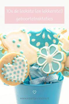 10x de leukste geboortetraktatie   KaartjeVanOns.nl Mini Donuts, Marshmallow, Cupcakes, Mini Doughnuts, Cup Cakes, Marshmallows, Cupcake, Cupcake Cakes, Muffins