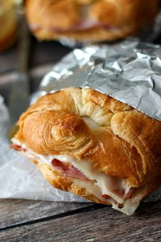 Hot Ham & Swiss Croissants