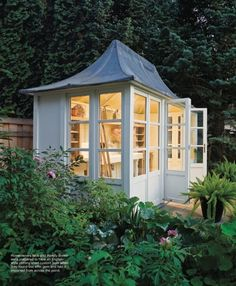 English style potting shed by HSP Garden Buildings. I LOVE this roof. More of a potting shed than a greenhouse. Not such a bad idea. Garden Buildings, Garden Structures, Outdoor Structures, Outdoor Rooms, Outdoor Gardens, Outdoor Living, Outdoor Office, Modern Gardens, Outdoor Art