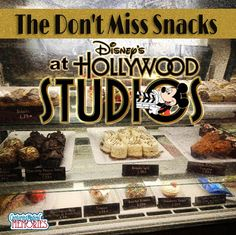 A look at the 3 Snacks you will actually head to Disney's Hollywood Studios to find - yummy!
