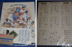 Kansas City Royals World Series 1985 Promo Memorabilia Conoco Rare Vintage MINT #royals #worldseries #beroyal