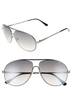 Tom Ford 'Cliff' 61mm Aviator Sunglasses available at #Nordstrom