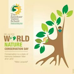 Earth provides enough to satisfy every man's needs, but not every man's greed. - Mahatma Gandhi This is the time to go green and do something for nature. This World Nature Conservation Day take a pledge to plant a tree and become a responsible citizen. #WorldNatureConservationDay #TSVS #ShikharStudents #SopaanStudents #AadharStudents #PranganStudents #SVN
