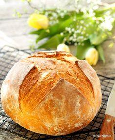 Łatwy chleb pszenny na drożdżach | Smaczna Pyza