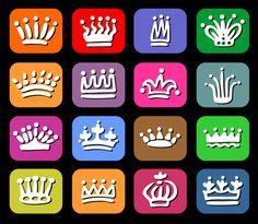 いろいろなデザインの王冠(crowns)やティアラ(tiaras)のベクトル素材集 ポップで楽しいデザインやゴージャス、シンプルなど合計5セットのカンムリ!   Cr……