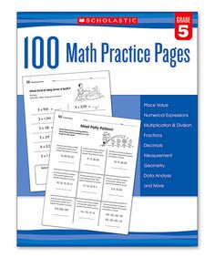 Look at this Scholastic Teaching Resources Grade 5 100 Math Practice Pages Workbook on #zulily today!