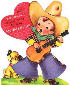 Cowboy vintage valentine